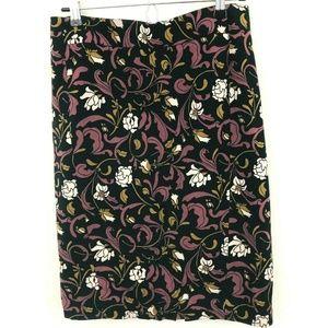 LOFT Floral Print Pencil Skirt 6